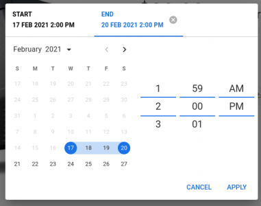 Mobiscroll date and time picker